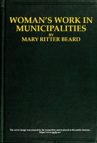 Cover of Woman's work in municipalities