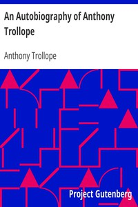 Cover of An Autobiography of Anthony Trollope