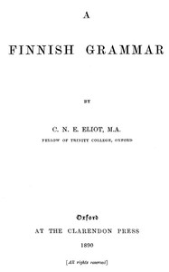 Cover of A Finnish Grammar