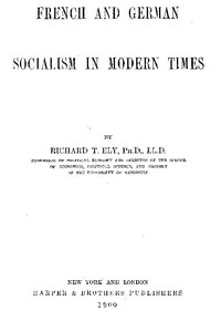 Cover of French and German Socialism in Modern Times