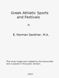 Cover of Greek Athletic Sports and Festivals
