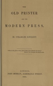 Cover of The Old Printer and the Modern Press