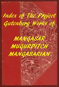 Cover of Index of the Project Gutenberg Works of M. M. Mangasarian