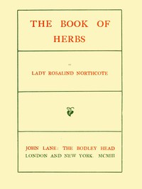 Cover of The Book of Herbs