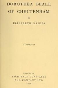 Cover of Dorothea Beale of Cheltenham