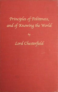 Cover of Principles of politeness, and of knowing the world