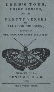 Cover of Pretty Verses for All Good Children: In Words of One, Two, and Three Syllables