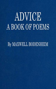 Advice: A Book of Poems
