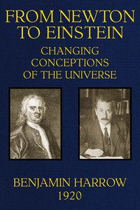 Cover of From Newton to Einstein: Changing Conceptions of the Universe