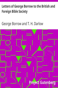 Cover of Letters of George Borrow to the British and Foreign Bible Society