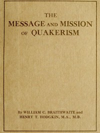Cover of The Message and Mission of Quakerism