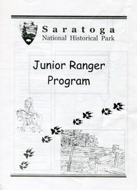 Cover of Saratoga National Historical Park Junior Ranger Program