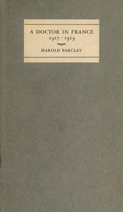 Cover of A Doctor in France, 1917-1919: The Diary of Harold Barclay