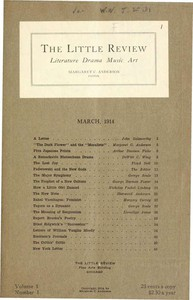 The Little Review, March 1914 (Vol. 1, No. 1)