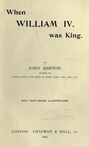 Cover of When William IV. Was King