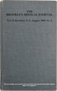 Cover of The Brooklyn Medical Journal. Vol. II. No. 2. Aug., 1888