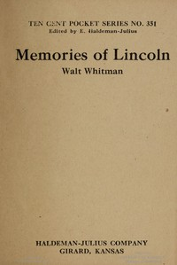 Cover of Memories of Lincoln