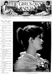 Cover of The Girl's Own Paper, Vol. XX, No. 1014, June 3, 1899