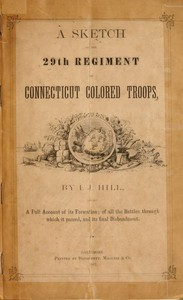 Cover of A Sketch of the 29th Regiment of Connecticut Colored Troops