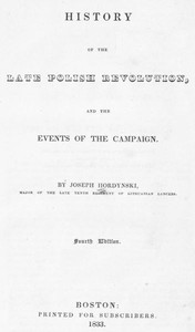 Cover of History of the Late Polish Revolution and the Events of the Campaign