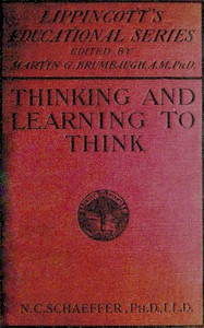 Cover of Thinking and learning to think