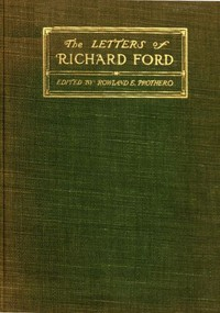 Cover of The letters of Richard Ford, 1797-1858