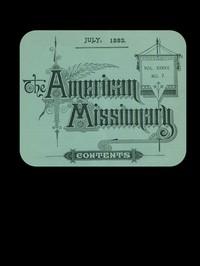 Cover of The American Missionary — Volume 37, No. 7, July, 1883