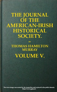 Cover of The Journal of the American-Irish Historical Society (Vol. V)