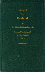 Letters from England, Volume 1 (of 3)