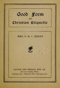 Cover of Good Form and Christian Etiquette