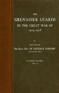 Cover of The Grenadier Guards in the Great War of 1914-1918, Vol. 2 of 3