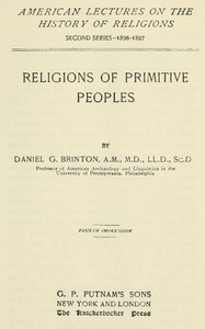 Religions of Primitive Peoples