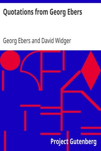 Cover of Quotations from Georg Ebers