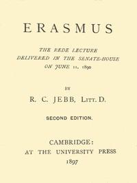 Cover of Erasmus