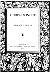 Cover of London Sonnets
