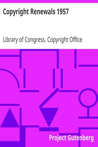 Cover of Copyright Renewals 1957