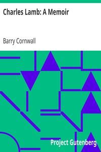 Cover of Charles Lamb: A Memoir