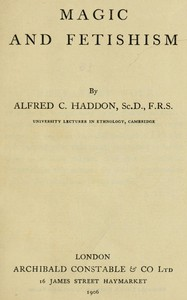 Cover of Magic and Fetishism