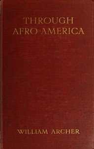 Cover of Through Afro-America: An English Reading of the Race Problem