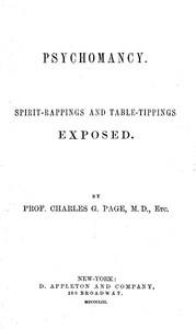 Psychomancy: Spirit-Rappings and Table-Tippings Exposed