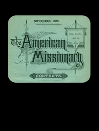 Cover of The American Missionary — Volume 37, No. 11, November, 1883