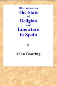 Observations on the State of Religion and Literature in Spain