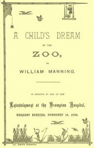 Cover of A Child's Dream of the Zoo