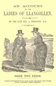 Cover of An Account of the Ladies of Llangollen