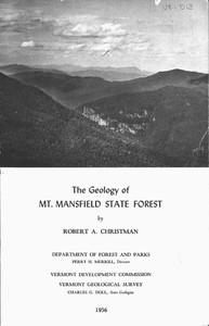 The Geology of Mt. Mansfield State Forest