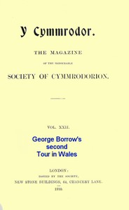 Cover of George Borrow's Second Tour in Wales