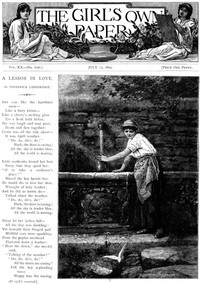 Cover of The Girl's Own Paper, Vol. XX, No. 1020, July 15, 1899