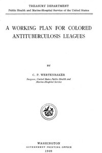 Cover of A Working Plan for Colored Antituberculosis Leagues