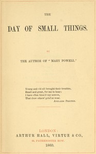 Cover of The Day of Small Things