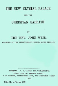 The New Crystal Palace and the Christian Sabbath